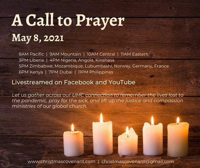 Call to prayer poster