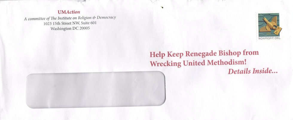 IRD Angers Ex-UMR Subscribers with 'Renegade Bishop' Mailing ...
