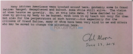 Charles Moore Letter