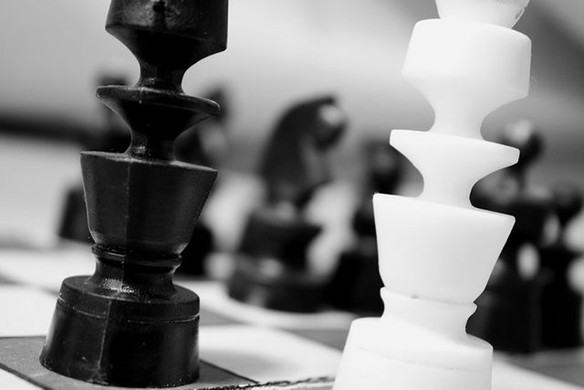 Black and White Chessmen