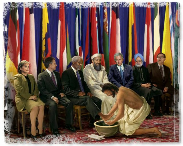 Jesus Washes Bin Laden