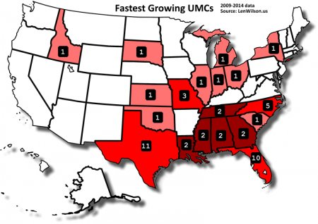 Growing Churches Map