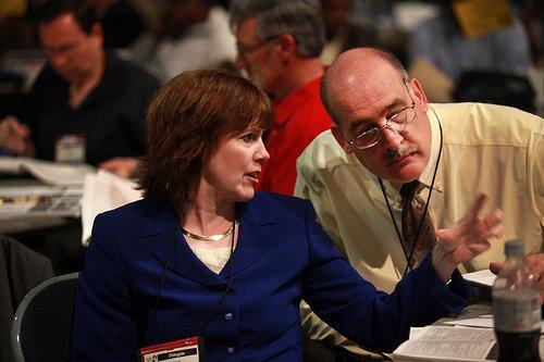Delegates Confer