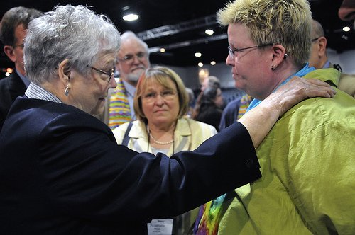 Bishops Negotiate with LGBT Protesters