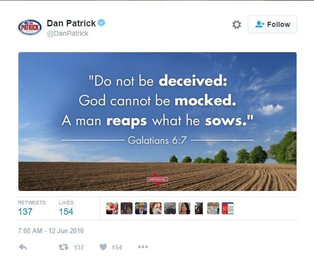 Dan Patrick Tweet