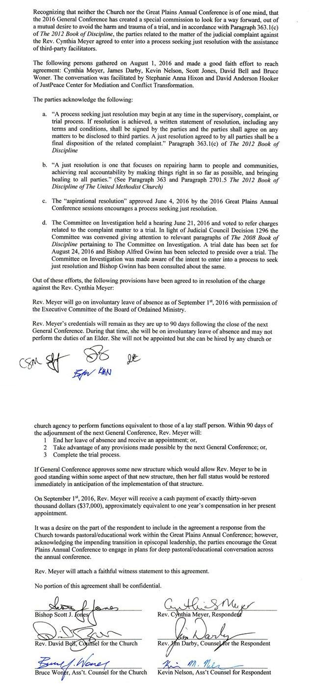 Meyers Agreement