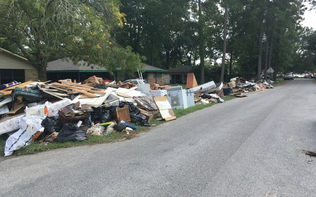 Louisiana Flood Debris