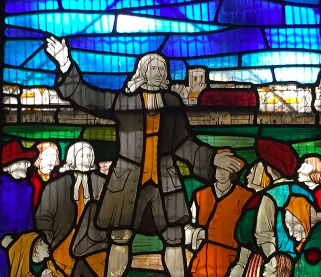 John Wesley Stained Glass