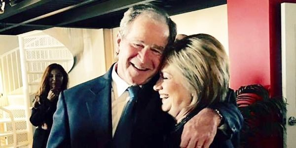 Dubya and Hillary