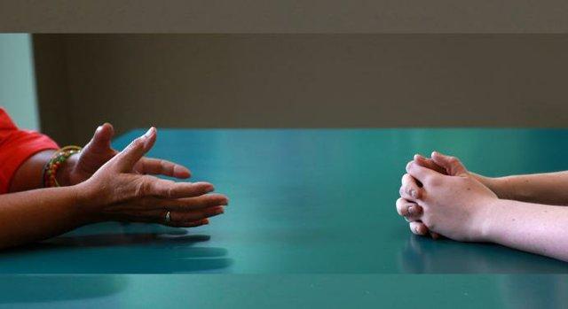 Hands Sharing in Faith