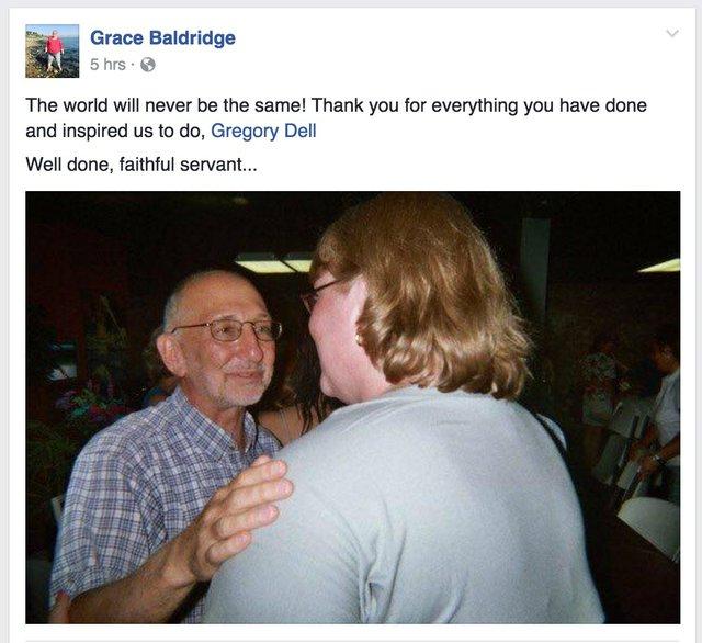 Grace Baldridge FB Post