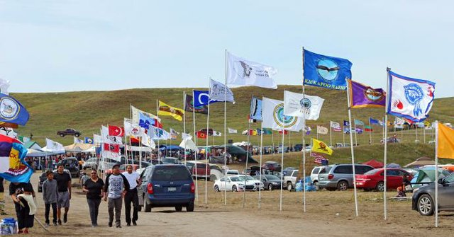Tribal flags Standing Rock