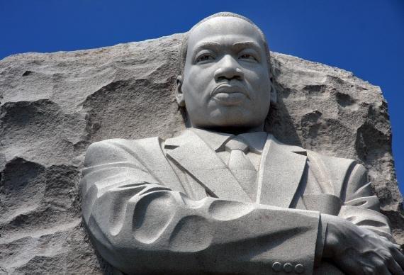 MLK Statue Face