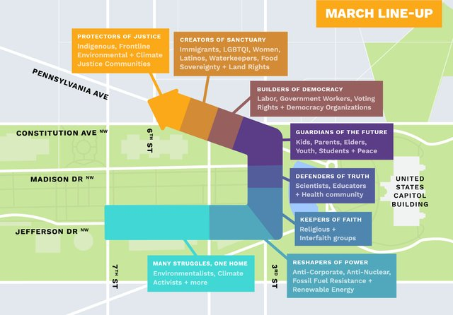 People's Climate March Map