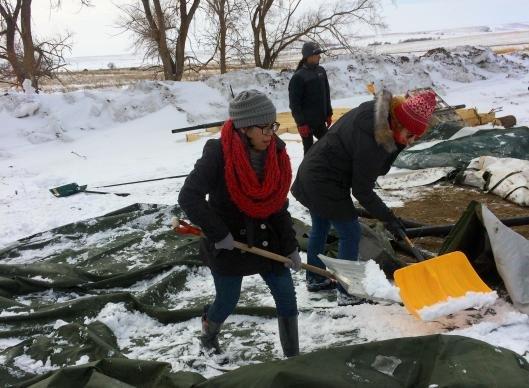 Standing Rock Shoveling