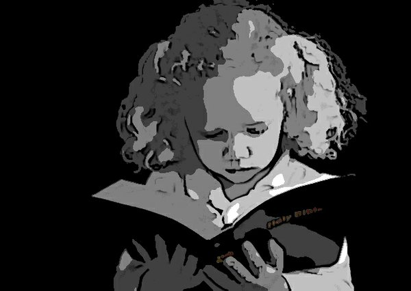 Girl Reads Bible