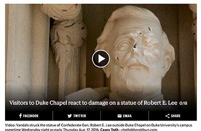 Lee Statue Vandalized