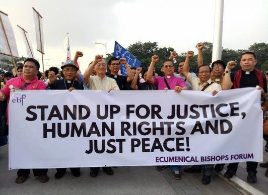 Philippines martial law protest
