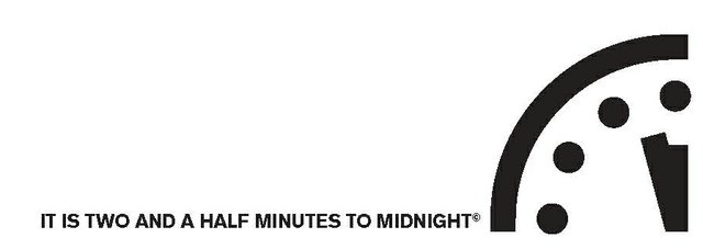 2.5 minutes to midnight
