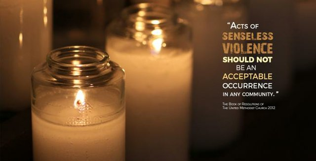 Gun Violence Candles