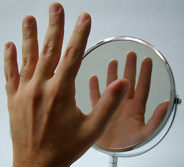 Hand Body Mirror