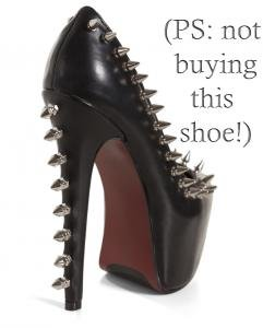 Studded spike heel