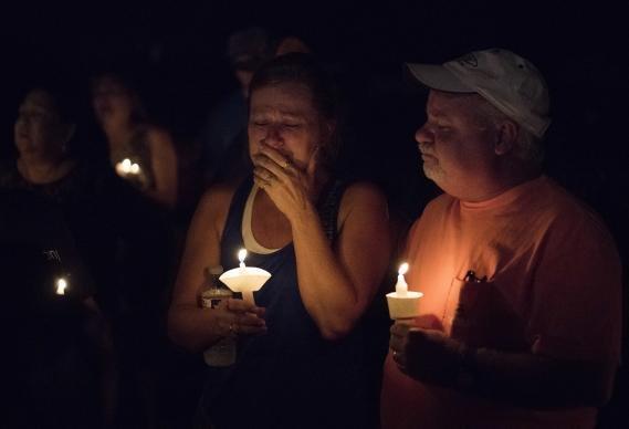 Baptist shooting vigil