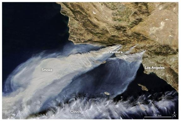 NASA California Fires 12-5-2017
