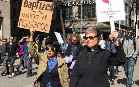 Clergywoman Protest