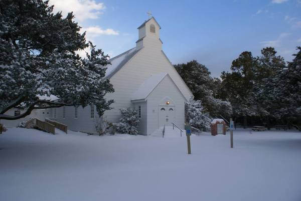 Ocracoke in Snow