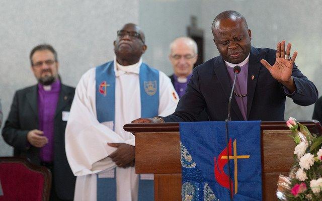 Bishop Mande Prays