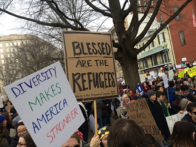 Refugee blessed