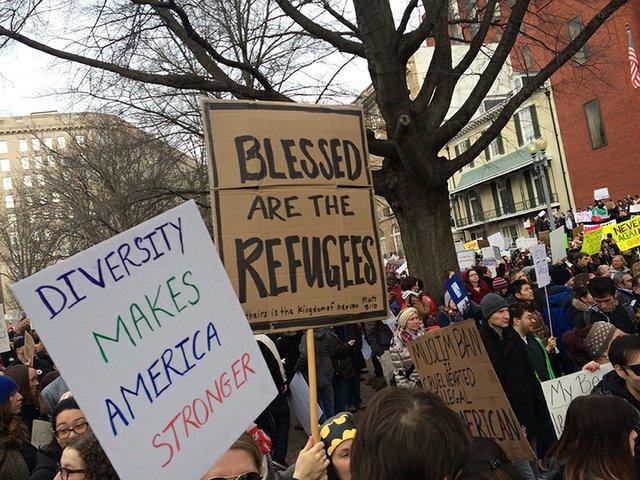 Refugee blessed