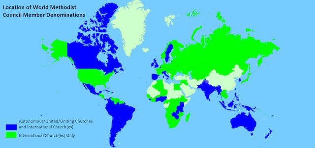 Analysis of the Locations of World Methodist Denominations ...