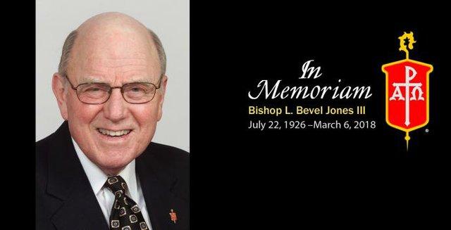 Bishop Bevel Jones Obit