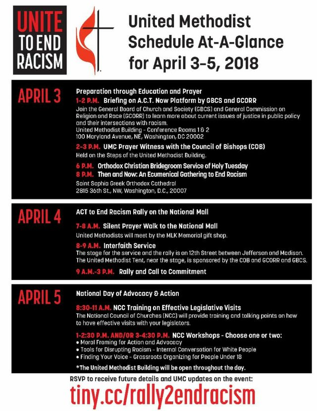 UMC Anti-Racism Schedule