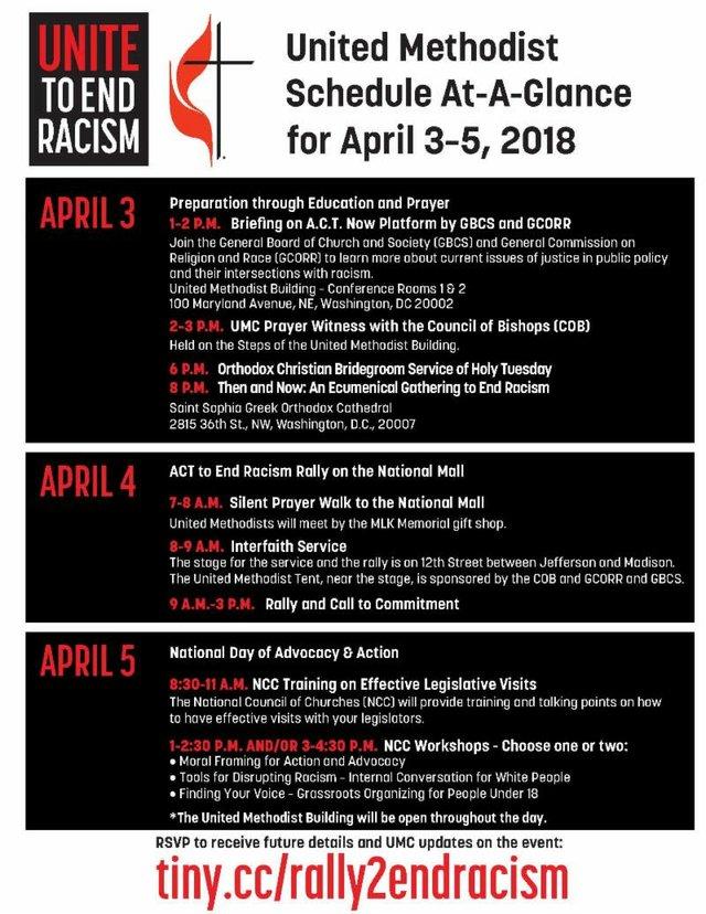 UMC Anti-Racism Schedule