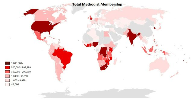 Methodists Total Membership