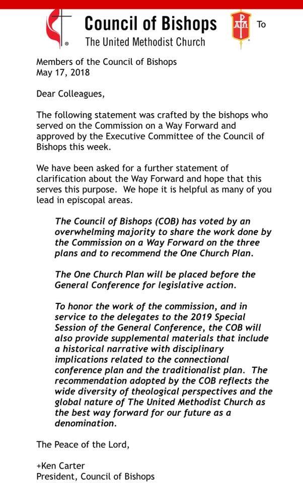 Bishops Statement 2018