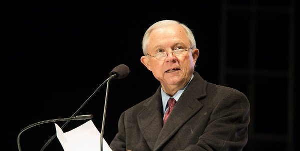 Jeff Sessions at mic