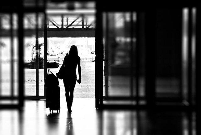 Woman Walking Out