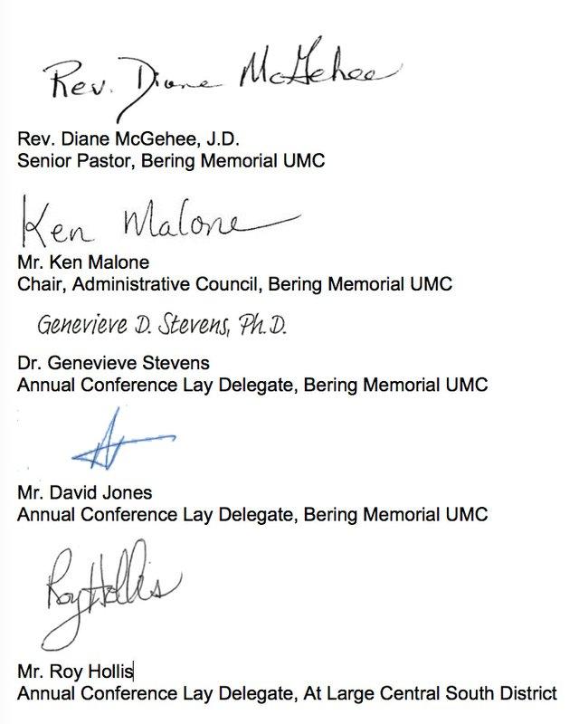 Bering UMC Signatures