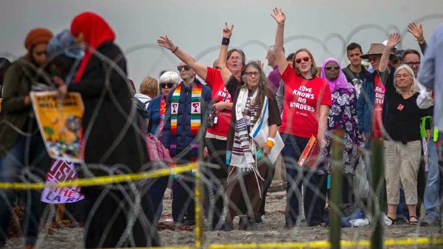Border protesters