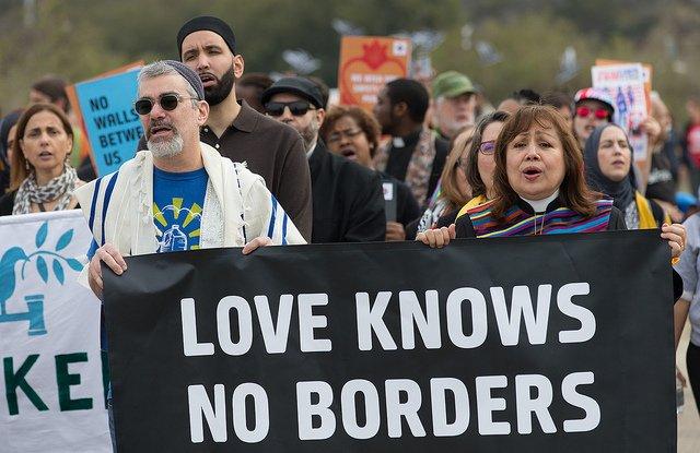 Carcano at Border Protest