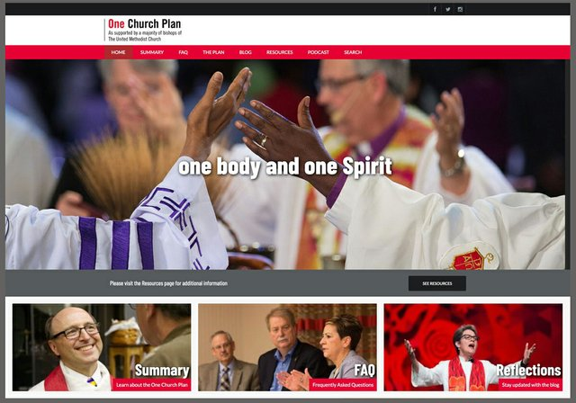 One Church Plan website