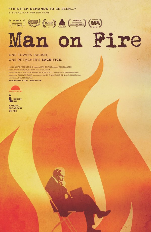 "A poster for ""Man on Fire"" film"