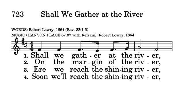 Shall We Gathter at the River?