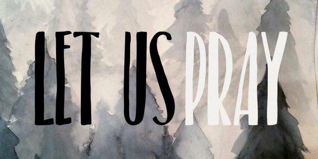 Let Us Pray Sign