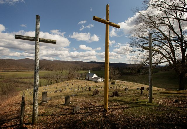 Rural churches 3 crosses