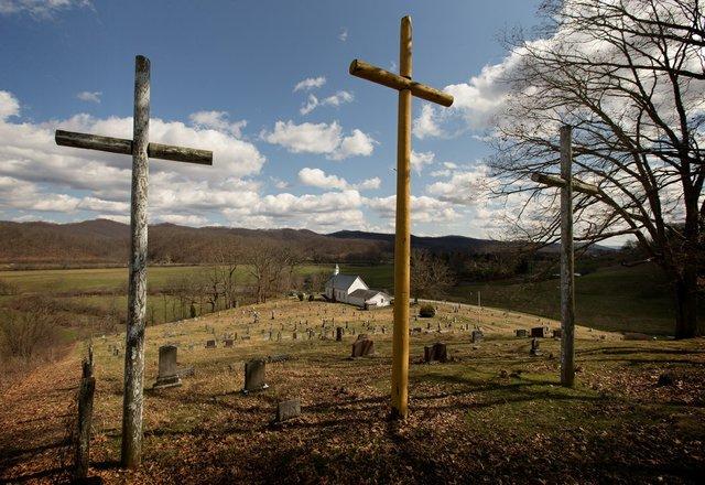 Rural churches 3 crosses